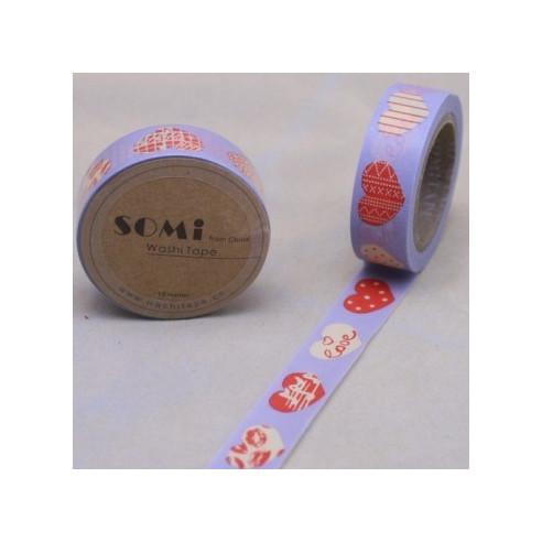 Washi Tape Corazones Grandes