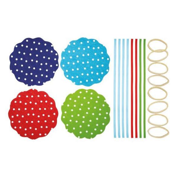 Kit para decoración de 8 tarros Lunares (24 pzs)