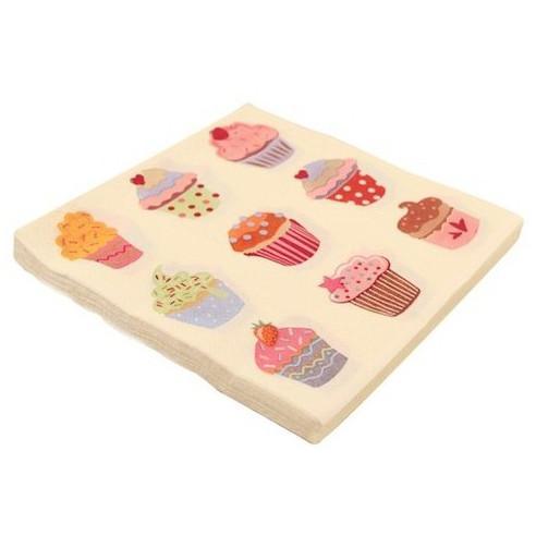 Servilletas doble capa Cupcakes