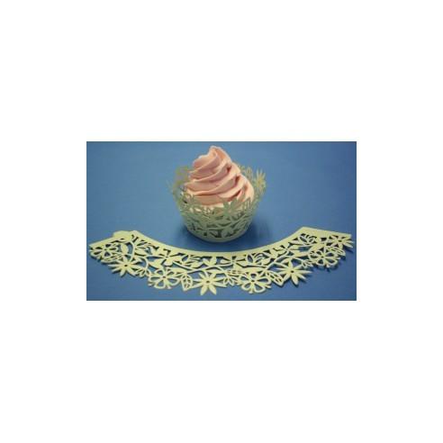 Wrapper para cupcakes verde flores PME