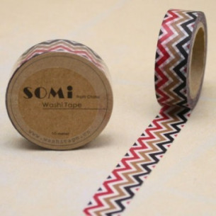 Washi Tape ZigZag Colores...