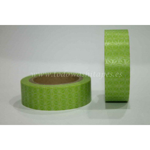 Washi Tape Verde Flor de Estrella