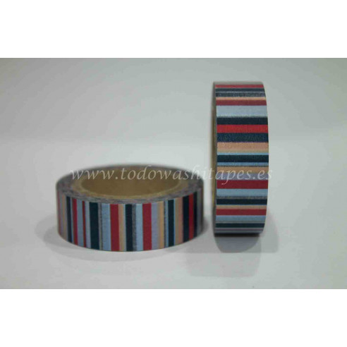 Washi Tape Rayas Colores
