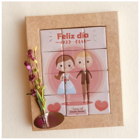 Marco 12 Chocolates - Feliz día