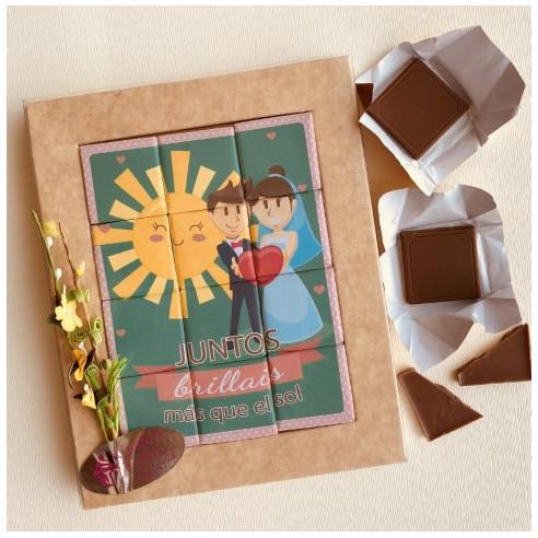 Marco 12 Chocolates - Juntos brilláis...
