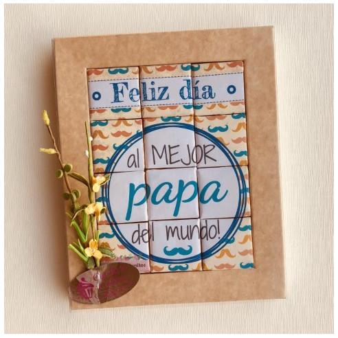 Marco 12 Chocolates - Feliz día al...