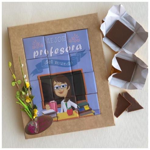 Marco 12 Chocolates - Mejor profesora...