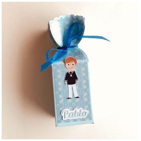 Cajita medio caramelo para Comunión Niño