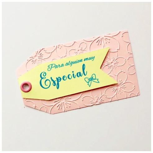 Etiquetas fondo rosa - Para alguien...