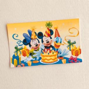 Set 5 invitaciones de cumpleaños - Disney