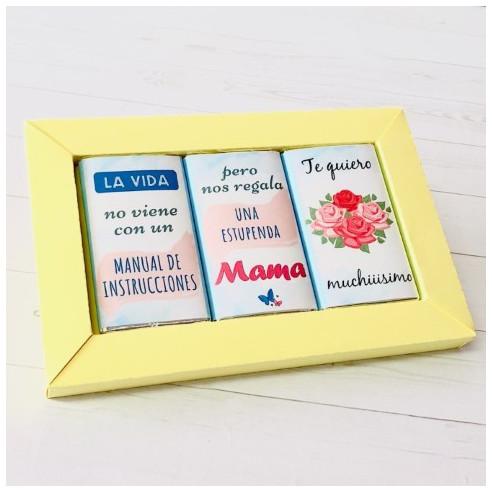 Marco 3 chocolates - La vida no viene...
