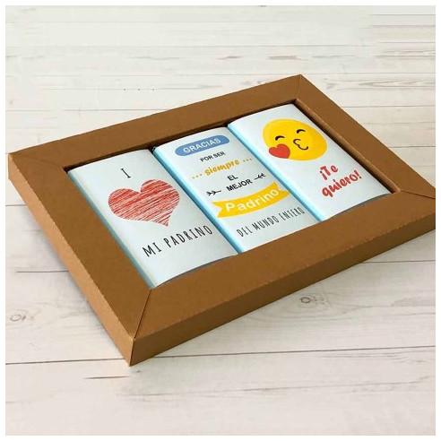 Marco 3 chocolates - Gracias por ser...