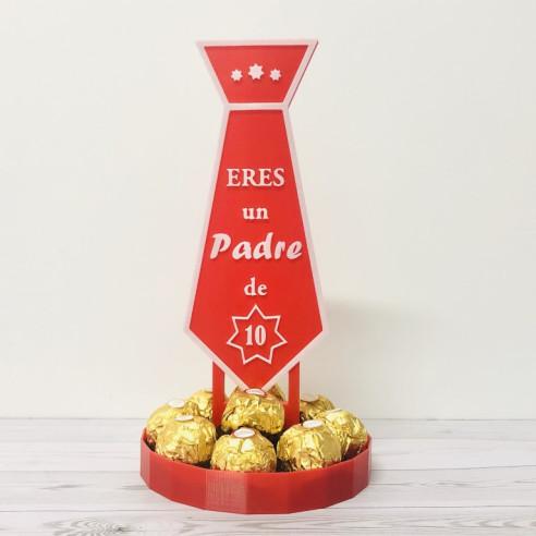 Centro de bombones Ferreros- Corbata...