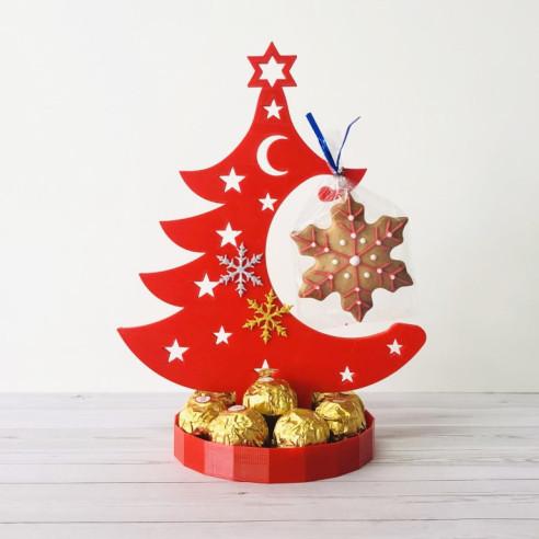 Centro de Navidad - Arbol con Ferreros