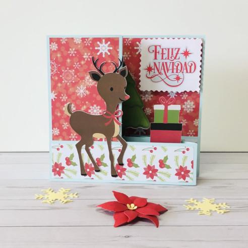 Tarjeta Feliz Navidad cervatillo