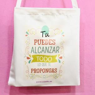 """Bolsa Tote Bag """"Tu puedes..."""