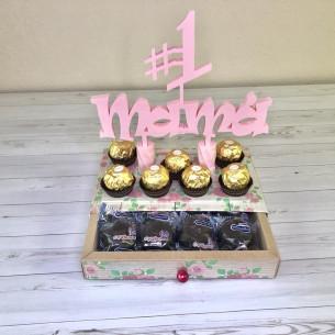 Caja con topper Nº1 mama