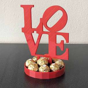 Centro LOVE con Ferreros