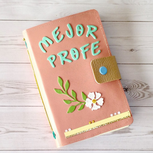"""Midori ecopiel rosa """"Mejor profe"""""""