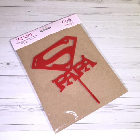Topper Superpapa Rojo