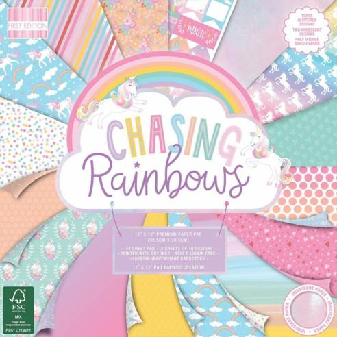 """Set scrapbooking """"Chasing Rainbows"""""""