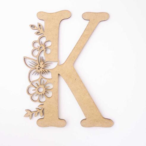 """Letra """"K"""" madera"""